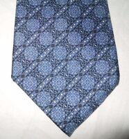 CHRISTIAN DIOR Made in USA Vintage All Silk Paisley Print Blue Necktie Tie