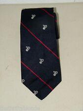 Vintage Silk Navy Blue Deafness Research Foundation Necktie Neck Tie 16689