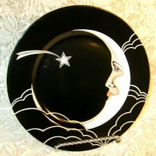 "Fitz and Floyd Stardust Salad Lunch Plate 7.5"" Man in the Moon 1978 Ff53 ~ Ex+"
