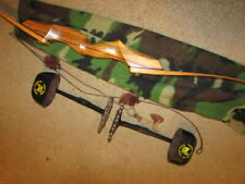 """CUSTOM Big Game Archery Hunting """"Take Down"""" Recurve Bow, String, Quivers & Sock"""