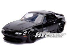 1/24 Jada 1990 Mazda Miata Diecast Model Car Black 30937 N/B