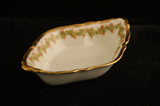 CHARMING FRENCH ELITE LIMOGES CHINA HAND PAINTED OPEN SALT CELLAR DIP NUT DISH