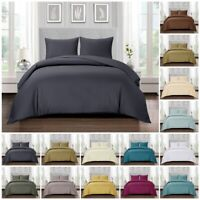 100% Egyptian Cotton Duvet Quilt Cover Bedding Set Double King Super King Size