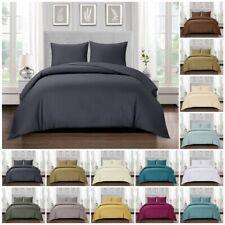 100% Egyptian Cotton Duvet Quilt Cover Bedding Set Double King Super King Size