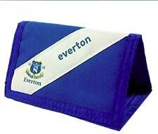 Everton F.C Portafogli Official Licensed Product A Righe Bianco Blu Logo Club