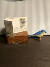 Nature's Sketchbook Bluebird Birds At My Window Hallmark Marjolein Bastin Euc