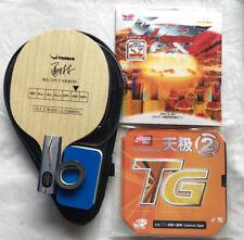 "New listing Custom-made Yasaka Table Tennis Bat w/Casee, ""Ma Lin Carbon"", Short Penhold, MEL"