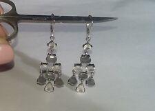 Moonstone Drop Earrings, Sterling Silver