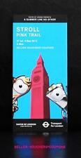 MOL TFL LONDON 2012 OLYMPICS STROLL PINK TRAIL GUIDE WENLOCK MANDEVILLE MASCOT