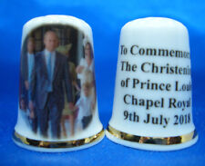 Birchcroft China Thimble -- Duke and Duchess with Prince Louis at Christening
