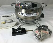 Cuisinart Electric Fondue Pot Forks for Chocolate Cheese Oil Broth Unused No Box