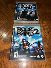 Rock Band 1 & 2 (Sony PlayStation PS3 Game Bundle Lot) CIB Free Shipping