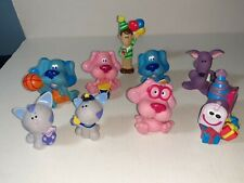 """Lot of 9 Mattel Viacom Blues Clues PVC Toy Figures2-3"""" Tall Cake Toppers"""