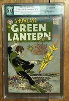 Showcase #22 1st Appearance of Silver Age Green Lantern Hal Jordan PGX 6.0 1959