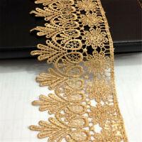 1 Yard Crochet Lace Trim Ribbon Wedding Applique Dress Sewing Decor Craft