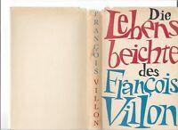 Schutzumschlag:Die Lebensbeichte des François Villon übersetzt v. M. Remane:1964