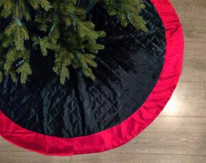"""Fennco Styles Velvet Quilted Diamond 52"""" 72"""" Christmas Tree Skirt Stocking"""