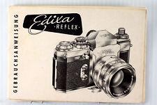 Original Wirgin Edixa Reflex Manual, in German, 48 pages, no print date
