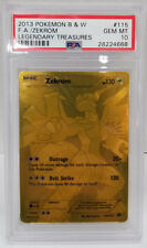 Pokemon Legendary Treasures Zekrom 115/113 GOLD SECRET PSA 10 Gem Mint #28224668