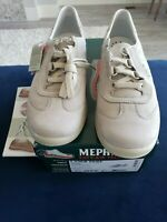 NEW Mephisto Laser Perf Stone Suede Leather Sneakers US 8 EU 5.5 Ladywalk 7880