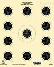 A-17 NRA Official 50 Foot small bore rifle target, (black)  (100 count) Tagboard