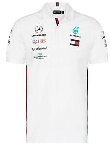Mercedes AMG Petronas Tommy 2019 Men's F1 Team Polo Shirt  NEW