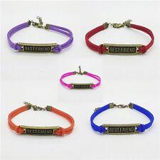 HOT 5Pcs mix Infinity leather Bracelet Faux Suede Friendship Best friend %