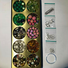Collection of Beads and findings earrings necklace jewellery making kit
