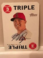 2017 Topps Heritage 1968 Topps Game Set Piece Card #4 Mike Trout Triple SP