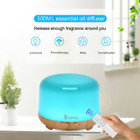 Ultrasonic Essential Oil Diffuser Humidifier Air Purifier Atomizer Aroma LED New