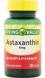 Spring Valley 4mg Astaxanthin 30 count Bottle Exp Date 10/18