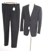 PAL ZILERI Anzug Gr. DE 52 Herren Slim Fit Business Suit Grau Wolle
