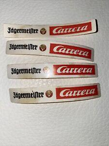 4 alte Aufkleber Carrera Jägermeister Carrerabahn