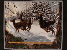 Realtree Wildlife Panel Deer Woods Snow Fleece Fabric Panel A505.20
