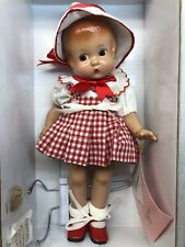 "12� Antique Effanbee Doll Co. ""Patsy� Repro Vinyl Classic Red Plaid Dress W/ Box"