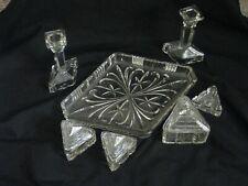 Art Deco glass, table dressing set