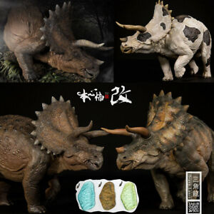 Nanmu 1/35 Triceratops Heavy Lance Figure Animal Dinosaur Model Collector Gift