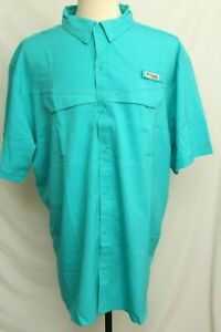 New US Air Force Embroidered Columbia PFG Low Drag Omni-Shade Shirt Men's L