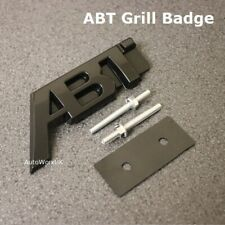 Black ABT SPORTS LINE Grill Badge Emblem Decal VW Volkswagen Audi Seat Skoda