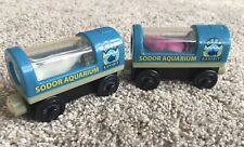 Thomas & Friends Wooden Railway Sodor Aquarium Light Up Shark & Squid Cars
