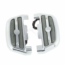 LED Passenger Footboard Cover Fit For Harley Touring Road King Dyna Softail
