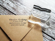 Address stamp Custom Personalised business return address name rubber stamp