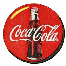 """Coca-Cola Beverage Bottle Embroidered Iron on or sew on Patch/Applique 3"""" Circle"""
