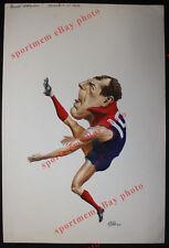 1990 Original Darren Bennett Melbourne Artwork Herald Footy Heroes by Ricardo r