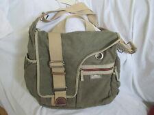 SIMPLE BRAND CANVAS/ LEATHER LAPTOP MESSENGER BAG