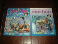 MARTINE - MARLIER - LOT 2 LIVRES + CD INCLUANT 4 HISTOIRES DONT LA NUIT DE NOEL