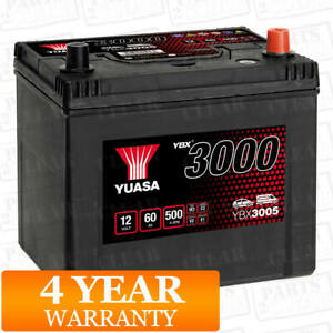 Yuasa Car Battery Calcium 12V 500CCA 60Ah T1 For Subaru Impreza 2.0 WRX STi