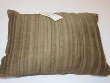 Calvin Klein Linen Saddle Brown Stripe Linen deco pillow NWT $125