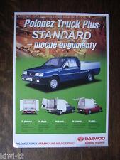 Daewoo FSO Polonez Truck Plus Standard, Prospekt / Brochure / Depliant, PL