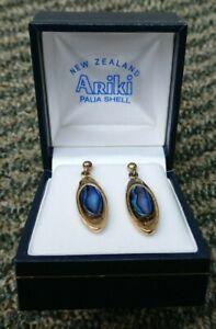 Paua Shell Drop Earrings